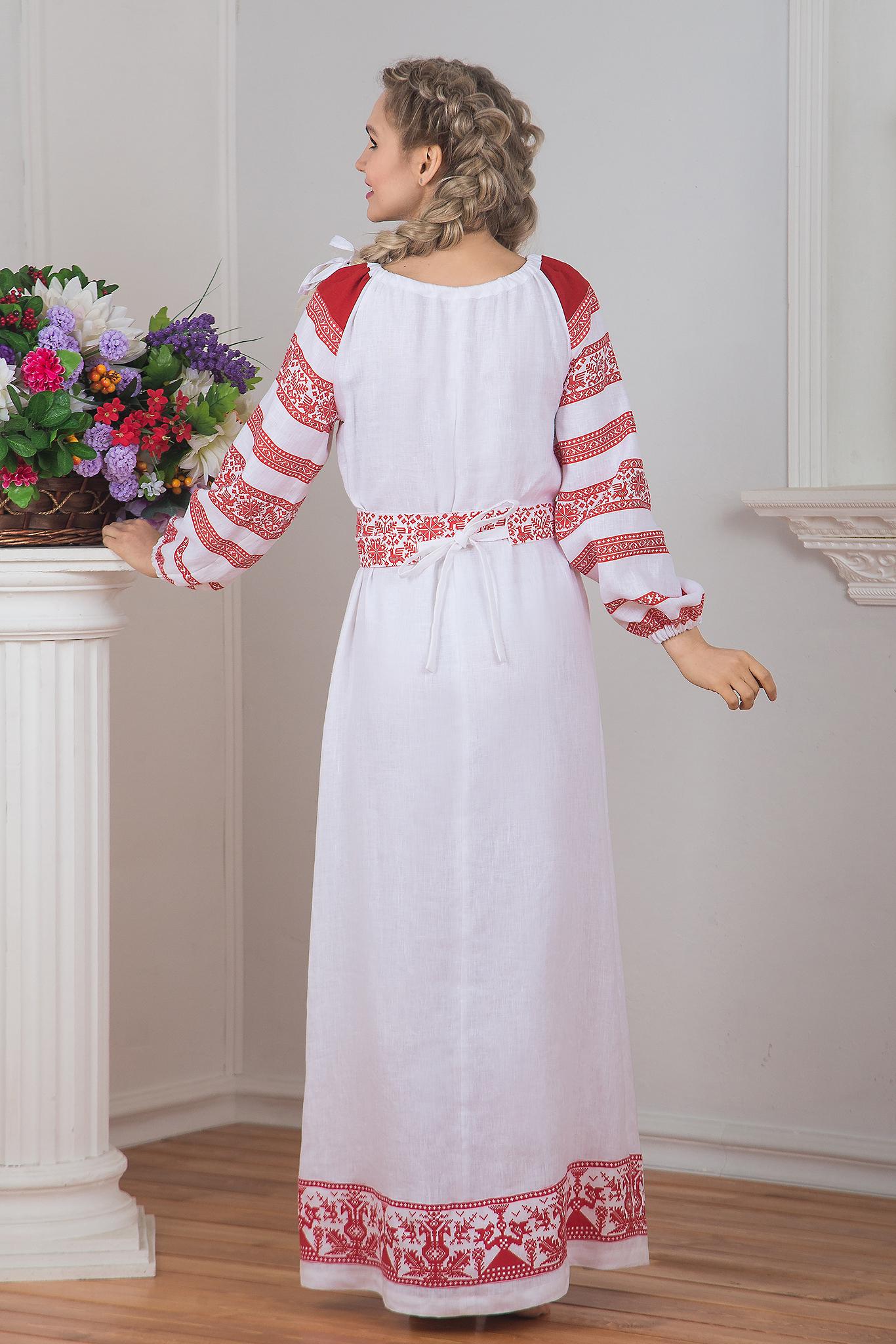 Платье Белая черемуха вид сзади