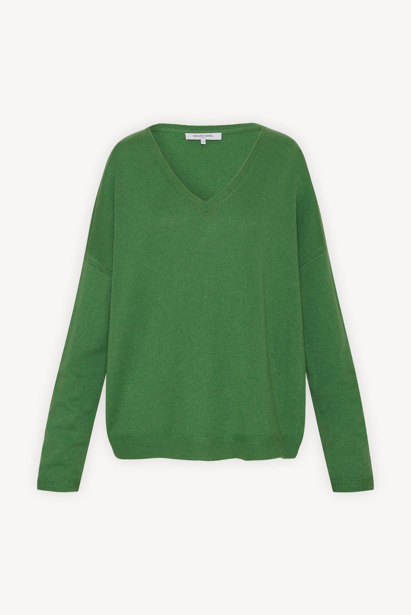 EDEN - кашемировый свитер свободного кроя с V-образным вырезом
