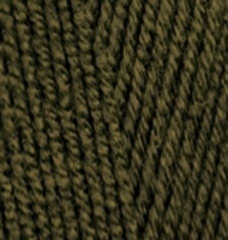 Пряжа Lanagold 800 оливково зеленый 214 Alize