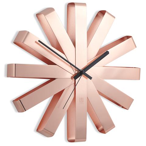 Часы настенные RIBBON медь