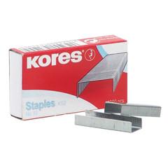 Скобы для степлера №10 Kores никелированные (1000 штук в упаковке)