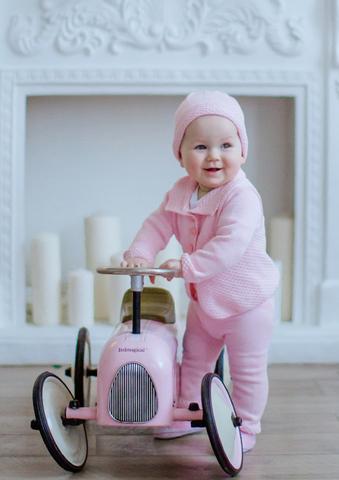 Лапушка. Комплект кофточка, штанишки и шапочка, розовый