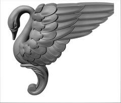 Силиконовый молд № 2347 Ножка  Лебедь левый 2 D