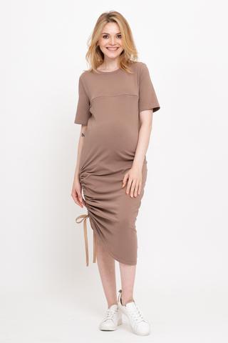 Платье для беременных и кормящих 12737 мокко