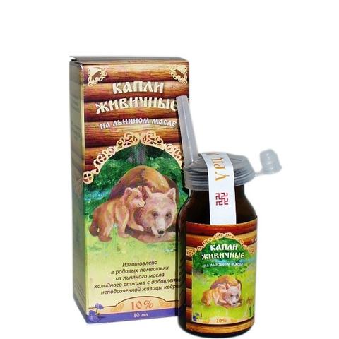 Капли живичные для носа на подсолнечном масле 10 мл (Медведь)