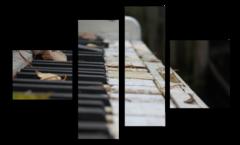 """Модульная картина """"Старое пианино"""""""