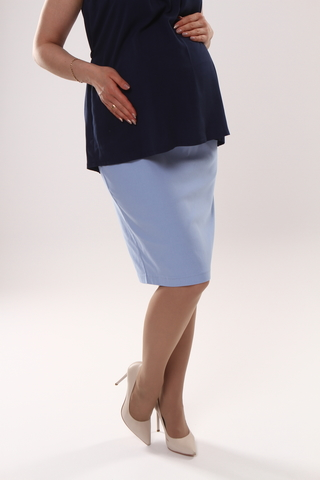 Юбка для беременных 10363 голубой