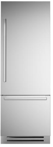 Встраиваемый двухкамерный холодильник Bertazzoni REF75PIXR