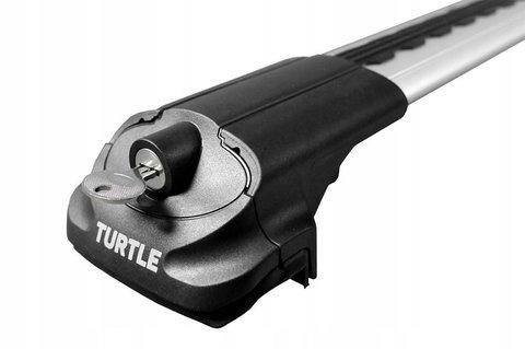 Багажник Turtle Silver AIR 1 на рейлинги ( серебристый цвет).