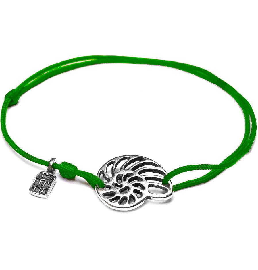 Seashell bracelet, sterling silver