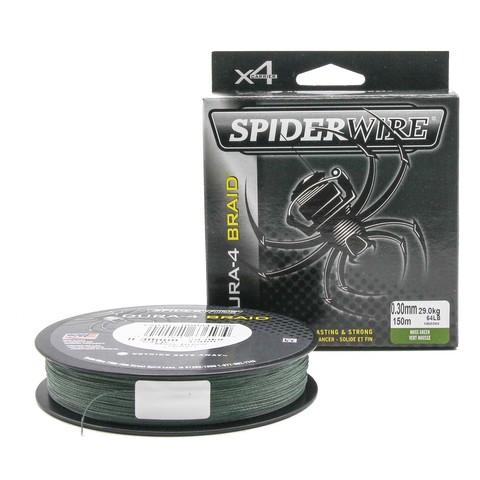 Плетеная леска Spiderwire Dura4 Braid Темно-зеленая 150m 0,30m Mgrn