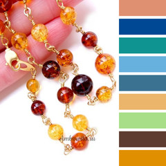с чем носить бусы из разноцветного янтаря - шпаргалка по подбору одежды