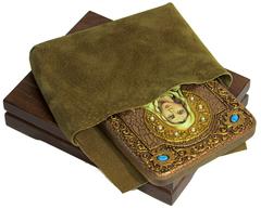 Инкрустированная икона Святая мученица Ника Коринфская 20х15см на натуральном дереве, в подарочной коробке