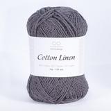 Пряжа Infinity Cotton Linen 5870 темно-серый
