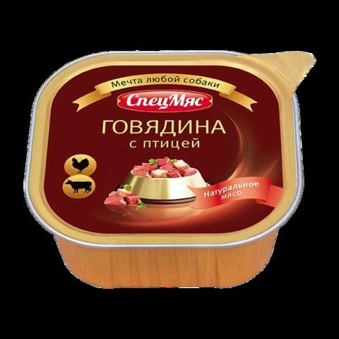 Зоогурман СпецМяс Консервы для собак с говядиной и птицей (ламистер)