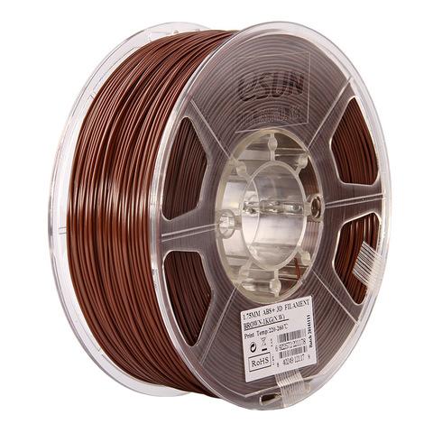ESUN ABS+ 1.75 мм, 1 кг, коричневый
