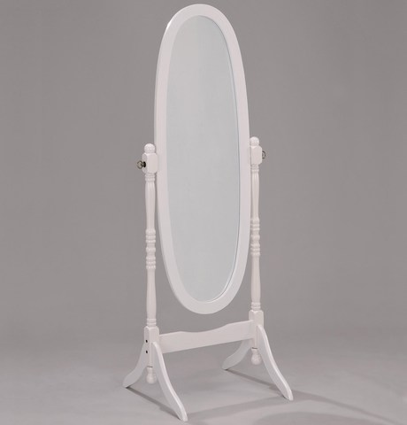 Зеркало овальное напольное МК-2301-WT, цвет белый