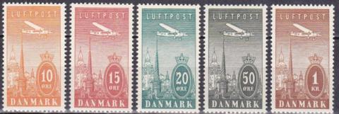 Дания 1934 №217-221 **MNH