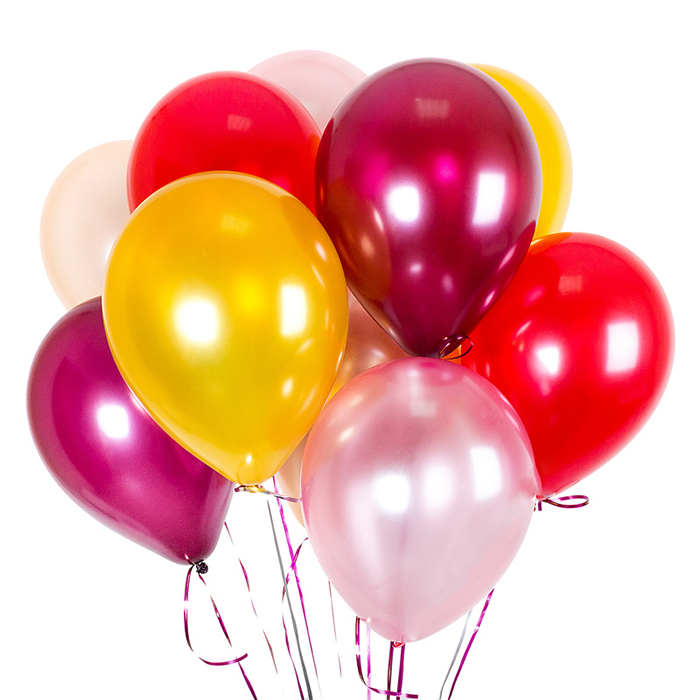 Купить воздушные шары РОСКОШЬ в Перми золотой красный бордовый розовый персиковый