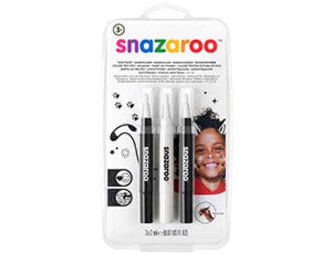 Аквагрим ручка Black&White 3цвх2мл/Sn