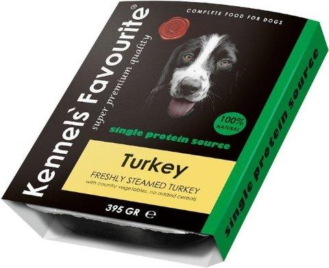 Kennels` Favourite 100% Turkey Свежепареное мясо с индейкой 395 гр.