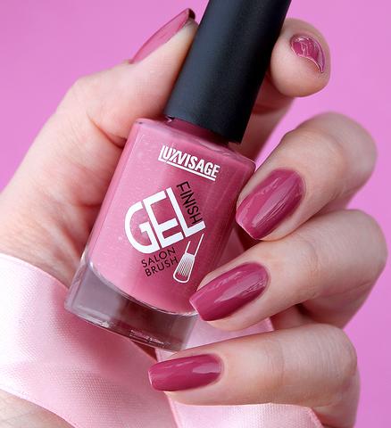 LuxVisage Лак для ногтей GEL finish тон 14(розовый) 9г