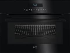 Встраиваемая электрическая микроволновая печь черного цвета AEG KMR721000B фото