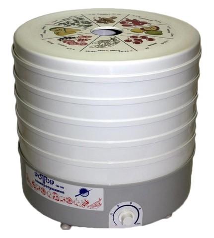 Сушка для фруктов и овощей Ротор СШ-002 5под. 520Вт белый
