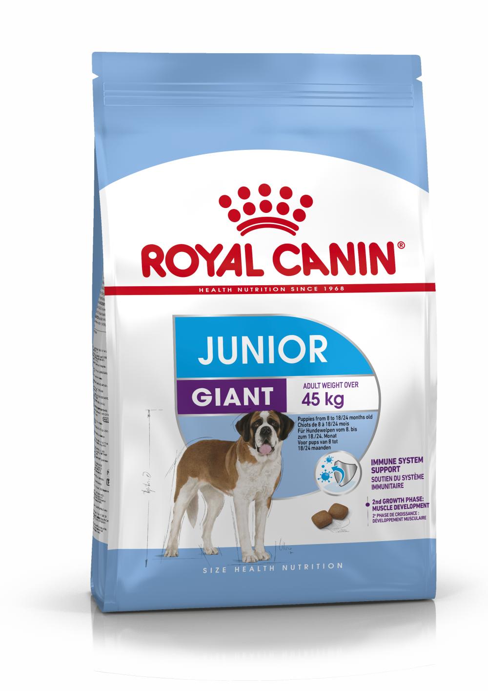 Сухой корм Корм для щенков очень крупных размеров с 8 месяцев, Royal Canin Giant Junior 4627109384990_1.png
