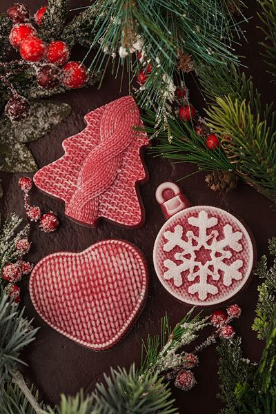 Пластиковая форма для мыла ручной работы Елка вязаная