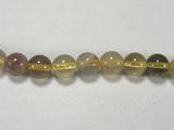 Бусина из флюорита желтого, шар гладкий 6мм