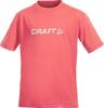 Футболка Craft Light Logo для юниоров  розовая