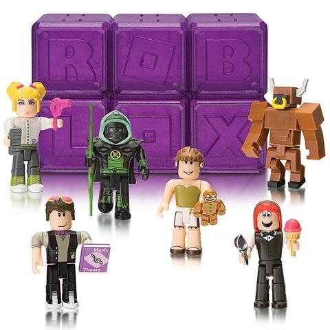 Роблокс Тайный набор Знаменитостей из 6 штук, серия 3 Фиолетовые