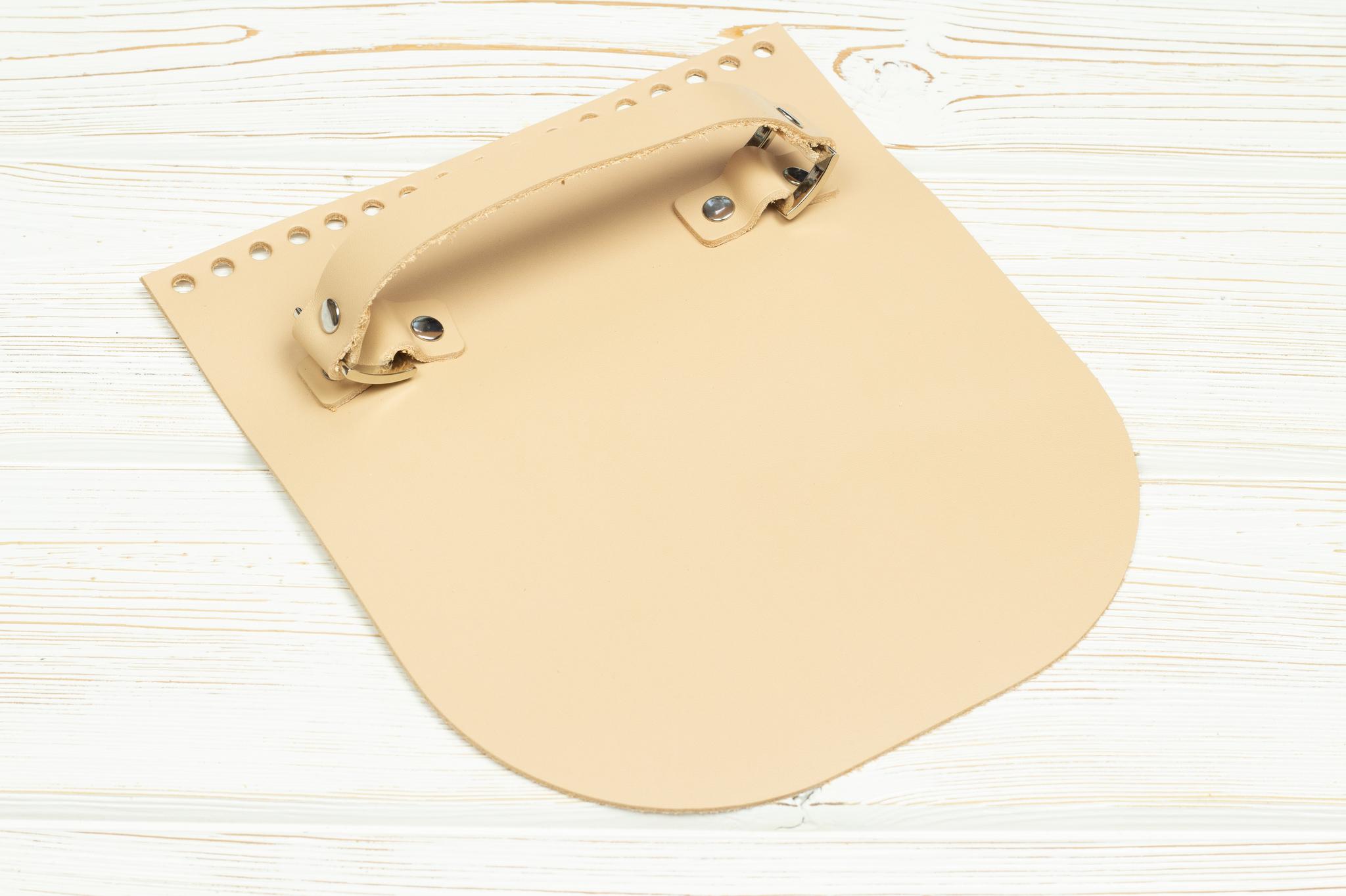 """Вся фурнитура Клапан для сумочки с ручкой кожаный """"Телесный"""" IMG_3509.jpg"""