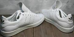 Весенние кеды женские Adidas Stan Smith White-R A14w15wg