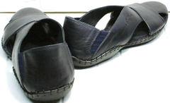 Синие сандалии из натуральной кожи мужские Luciano Bellini 76389 Blue.