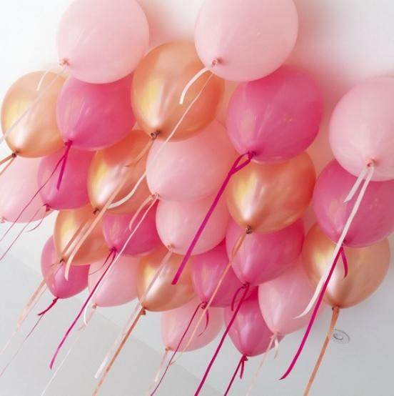 Шарики под потолок на День Рождения девушке