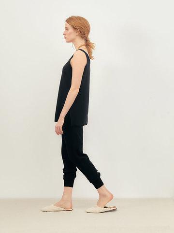 Женские брюки черного цвета из вискозы - фото 4