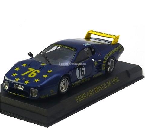 Ferrari BB 512 #76 24h LeMans 1981 Xhenceval Dieudonne Regout Altaya 1:43