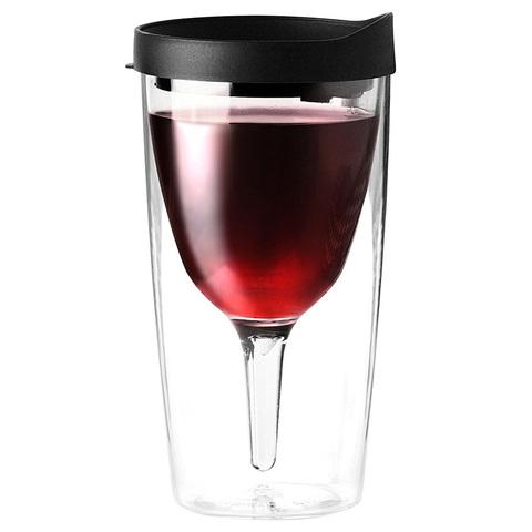 Бокал Asobu Vino 2 go (0,3 литра), черный