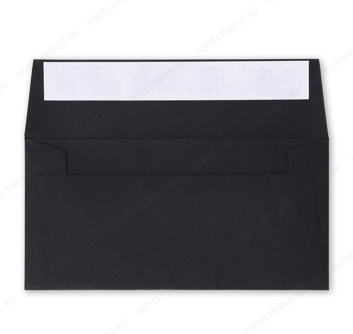 Евроконверт из дизайнерской бумаги с белой стриплентой