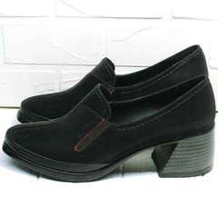 Закрытые женские туфли на толстом каблуке H&G BEM 167 10B-Black.