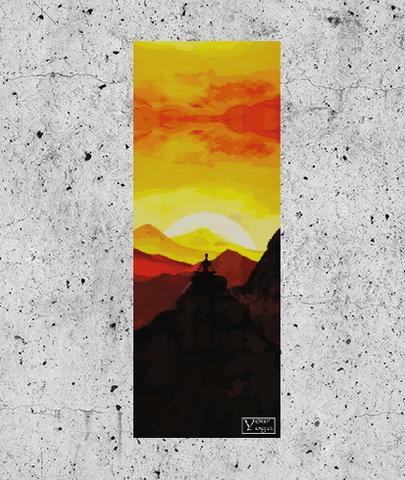 Коврик для йоги Peace 178*61*0,3 см из микрофибры и каучука