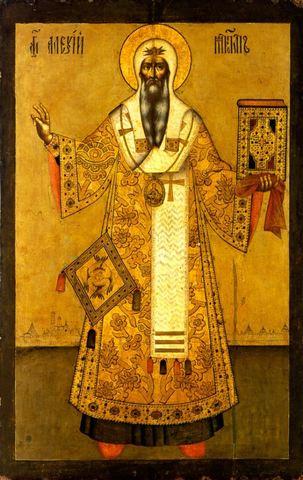 Икона святой Алексий Митрополит Московский на дереве на левкасе мастерская Иконный Дом