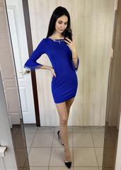 Дінара. Сукня з красивим рукавом. Електрик