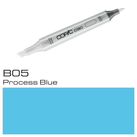 Маркер Copic Ciao двухсторонний на спирт.основе цв.B05 голубой обработанный