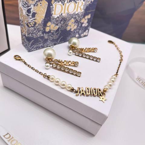 Dior Серьги и Браслет