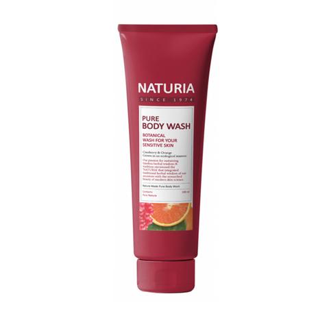 NATURIA Гель для душа КЛЮКВА/АПЕЛЬСИН Pure Body Wash (Cranberry & Orange), 100 мл