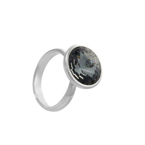 Кольцо Silver night K1802.3 BW/S