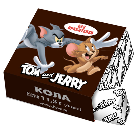 Жевательные конфеты Tom and Jerry со вкусом колы, 11,5 г